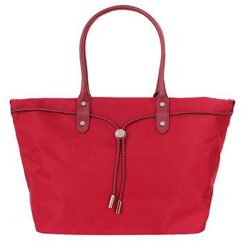agnes b.- 帆布麻繩束袋手提包(大/紅)