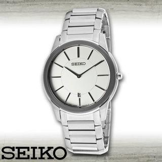 【SEIKO 精工】藍寶石水晶時尚石英男錶(SKP377P1)