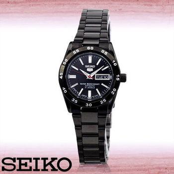【SEIKO 精工】全日製精工黑鋼機械女錶(SYMG41J1)