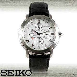 【SEIKO 精工】羅馬數字波浪紋/紳士石英男錶(SRL009P1)