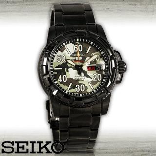 【SEIKO 精工】盾牌五號-迷彩系列自動+手動上鏈機械錶(SRP225J1)