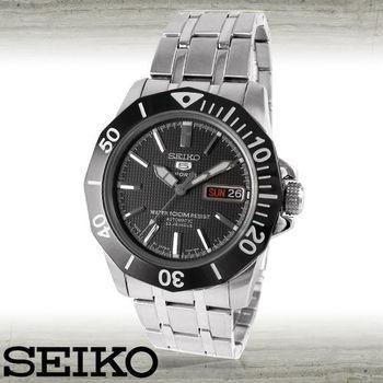 【SEIKO 精工】全日製格紋/潛水機械錶(SNZF77J1)