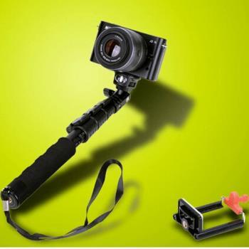 收納僅29CM~迷你便攜式★黑仗手機/相機鋁合金伸縮自拍桿