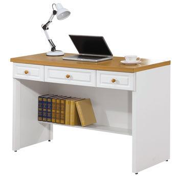 【時尚屋】[G15]鄉村風烤白4尺書桌219-5