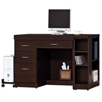 【時尚屋】[G15]艾力森胡桃色4尺伸縮電腦桌225-1
