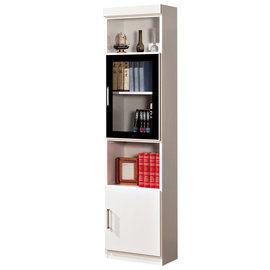 【時尚屋】[G15]肯尼1.4尺玻璃門雙門書櫃223-7