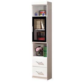 【時尚屋】[G15]肯尼1.4尺玻璃門雙抽書櫃223-5