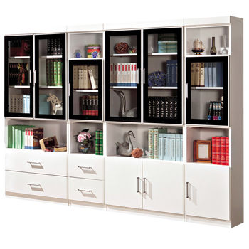 【時尚屋】[G15]肯尼8.1尺玻璃門書櫃223-3