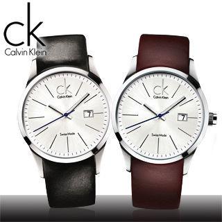 【瑞士 CK手錶 Calvin Klein】簡約時尚_大錶徑皮錶帶男錶(K2246126_K2246138)