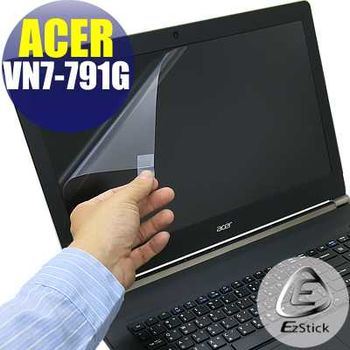 【EZstick】ACER Aspire V17 VN7-791G 專用 靜電式筆電LCD液晶螢幕貼 (霧面螢幕貼)