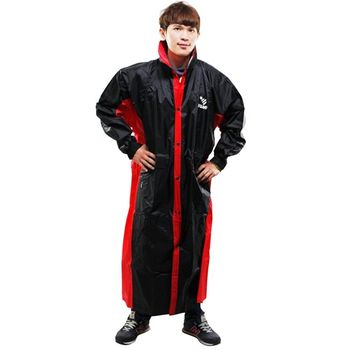 新二代 JUMP新帥前開式休閒風雨衣-黑紅
