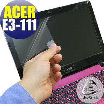 【EZstick】ACER Aspire E3-111 專用 靜電式筆電LCD液晶螢幕貼 (鏡面螢幕貼)