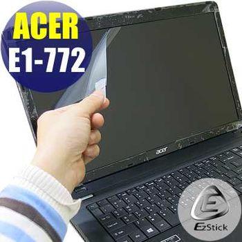 【EZstick】ACER Aspire E1-772 E1-772G 專用 靜電式筆電LCD液晶螢幕貼 (鏡面螢幕貼)