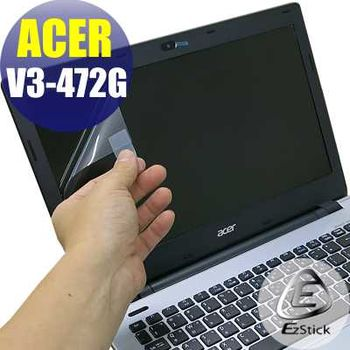 【EZstick】ACER Aspire V14 V3-472G 專用 靜電式筆電LCD液晶螢幕貼 (鏡面螢幕貼)