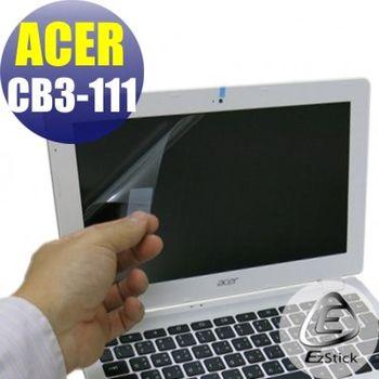 【EZstick】ACER Chromebook CB3-111 專用 靜電式筆電LCD液晶螢幕貼 (霧面螢幕貼)