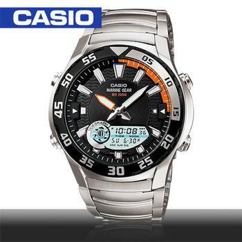 【CASIO 卡西歐】日系-多功能雙顯錶/月相/潮汐(AMW-710D)