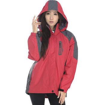 SAIN SOU】防水/防風/透氣/保暖+可拆式防風帽兩件式外套(中性款)T27301