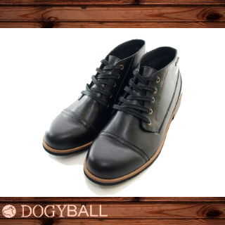 【DOGYBALL】Miller 都會輕式牛皮短靴 (黑色)