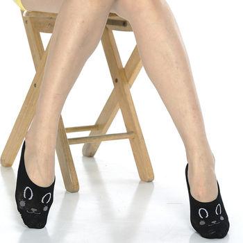 【KEROPPA】吸濕/止滑/減壓竹炭隱形襪*6雙(男女適用)503-3-黑