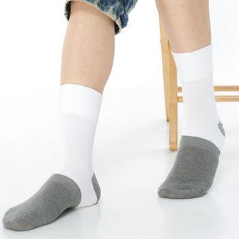 【KEROPPA】萊卡竹炭無痕寬口1/2短襪*2雙(男襪)C90003-白色