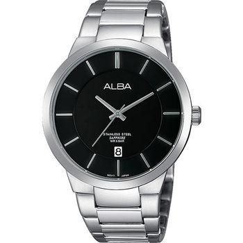 ALBA PRESTIGE 日系純粹時尚腕錶-黑x銀 VJ42-X138D(AS9923X1)