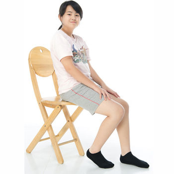 【KEROPPA】可諾帕細針毛巾底氣墊船型學生襪x4雙(男女適用)C91001-黑色
