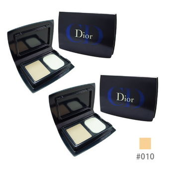 《Christian Dior 迪奧》光柔恆色水潤精華粉餅3g*2入 色號#010 象牙白