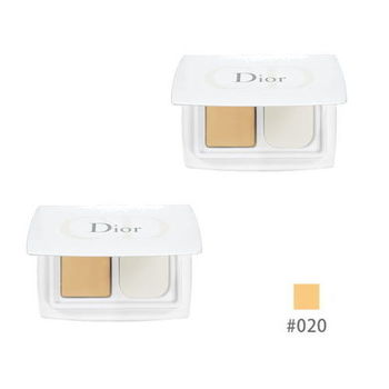 《Christian Dior 迪奧》雪晶靈極緻透白粉餅SPF30(3g*2入)色號#020 粉嫩膚色