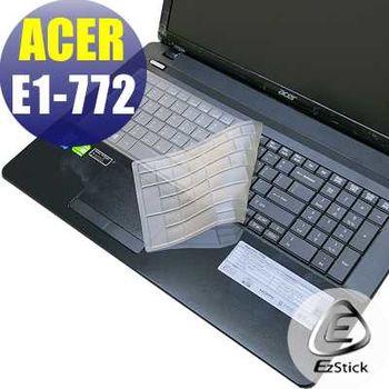 【EZstick】ACER Aspire E1-772 E1-772G 系列專用 奈米銀抗菌 TPU 鍵盤保護膜