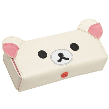 San-X 拉拉熊皮革懶熊系列眼鏡盒 懶妹