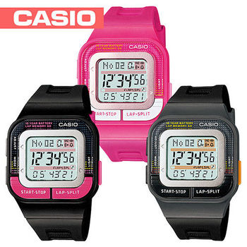 【CASIO 卡西歐】繽紛色彩運動風-慢跑錶-第二代馬拉松(SDB-100)