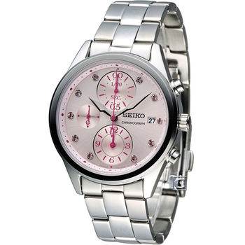 SEIKO 精工 璀璨柔美計時腕錶 7T92-0SK0P SNDW03P1