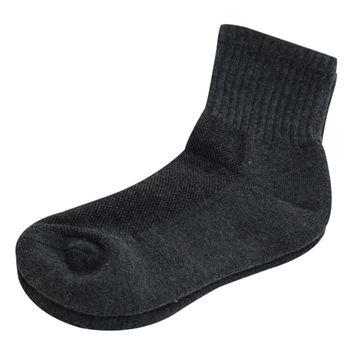 【KEROPPA】可諾帕細針毛巾底5比1氣墊1/2女短襪x3雙C91006深灰