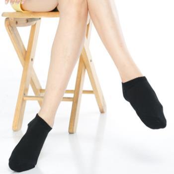 【KEROPPA】可諾帕細針毛巾底氣墊超短襪x4雙(男女適用)C91005黑色