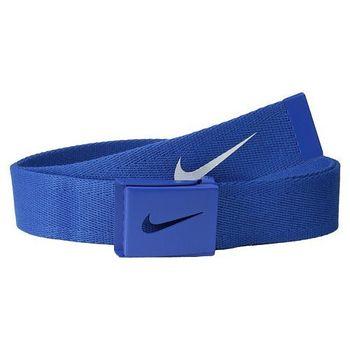 【Nike】2015金屬扣旋風標誌棉軟織帶靛藍色皮帶(預購)