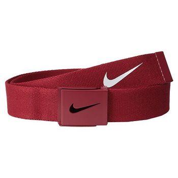 【Nike】2015金屬扣旋風標誌棉軟織帶紅色皮帶(預購)