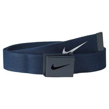 【Nike】2015金屬扣旋風標誌棉軟織帶大學藍色皮帶(預購)