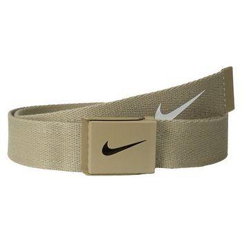【Nike】2015金屬扣旋風標誌棉軟織帶褐色皮帶(預購)