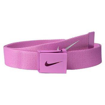 【Nike】2015金屬扣旋風標誌棉軟織帶紫羅蘭色皮帶(預購)