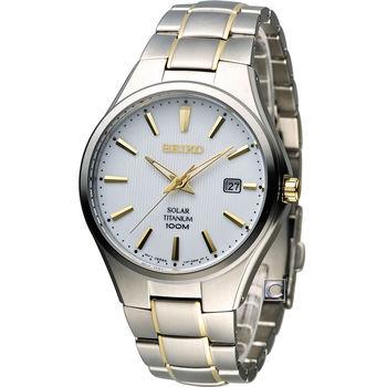 精工 SEIKO Solar 經典紳士【鈦】時尚腕錶 V157-0BB0K(SNE379P1)