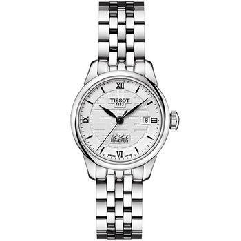 TISSOT Le Locle 力洛克雙喜特別版機械女錶-銀 T41118335