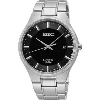 SEIKO 藍寶石水晶時尚腕錶-黑 7N42-0GB0D(SGEH31P1)