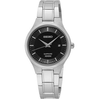 SEIKO CS 品味城市時尚女錶-黑x銀 7N82-0JF0D(SXDG47P1)