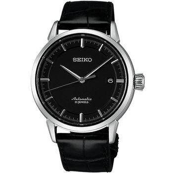 SEIKO Presage 領導經典機械腕錶-黑 6R15-02Y0A(SARX025J)