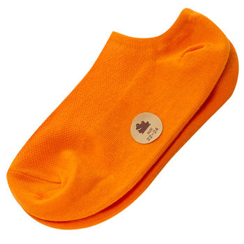 【KEROPPA】可諾帕網狀造型船襪(學生專用)x4雙C97001橘色