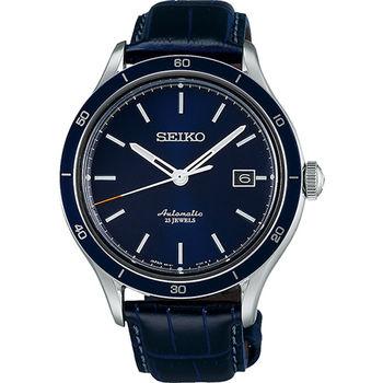 SEIKO 6R15精工23石都會機械腕錶-藍 6R15-02V0B