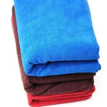 OMAX專業級汽車美容超大150*60cm 吸水洗車巾-藍色-2入