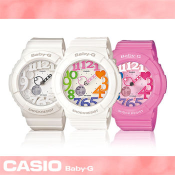 【CASIO 卡西歐 Baby-G 系列】超人氣霓虹照明系列-活力女孩運動錶(BGA-131)