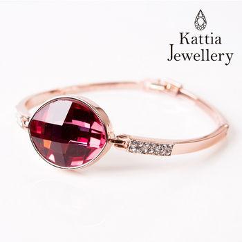 【KATTIA JEWELLERY】施華洛水晶元素粉晶鑲鑽手環