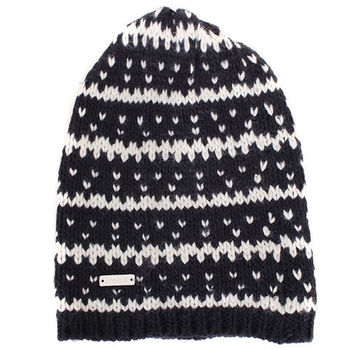 agnes b.-SPORT.b系列針織毛帽(深藍白)
